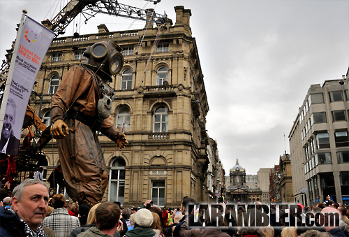 "Giant Uncle, one of three giants making up Liverpool's ""Giant Spectacular"""